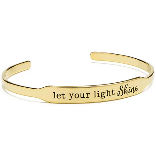 BR6003 Gold Let Your Light Shine Happygram Bangle copy